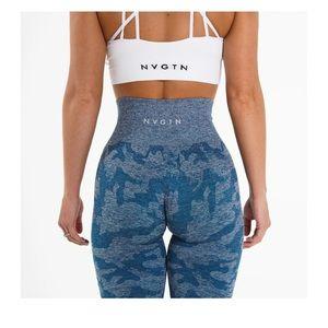 Slate blue camo seamless leggings